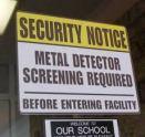 metal detector school